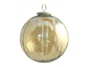 Γυάλινη Κρεμ Χριστουγεννιάτικη Μπάλα 13 εκ.