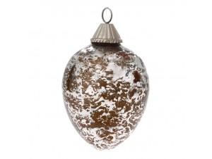 Χριστουγεννιάτικη Μπάλα Γυάλινη 10x14 εκ.