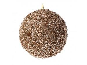 Χρυσή Χριστουγεννιάτικη Μπάλα με Στρας 8 εκ.