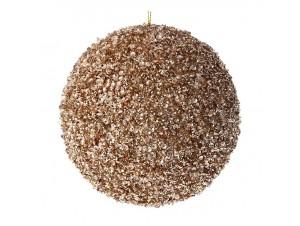 Χρυσή Χριστουγεννιάτικη Μπάλα με Στρας 10 εκ.