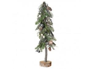 Φυσικό Χριστουγεννιάτικο Διακοσμητικό Δέντρο με Ξύλινη Βάση 18 x 50 εκ.