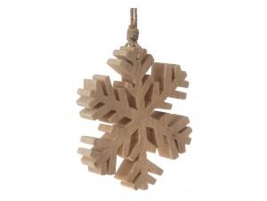 Ξύλινη Χριστουγεννιάτικη Νιφάδα 15 X 15 εκ.
