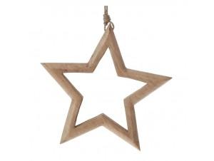 Ξύλινο Χριστουγεννιάτικο Αστέρι 18 x 18 εκ.