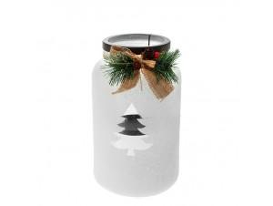 Χριστουγεννιάτικo διακοσμητικό Κηροπήγιο - Βάζο με Δέντρο 16 x 26 εκ.