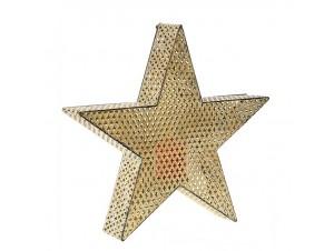 Χρυσό Χριστουγεννιάτικο Φανάρι Αστέρι 49 x 46 εκ.