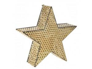 Χρυσό Χριστουγεννιάτικο Φανάρι Αστέρι 37 x 36 εκ.