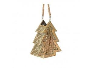 Χρυσό Χριστουγεννιάτικο Φανάρι Δέντρο 29 x 36 εκ.