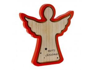 Χριστουγεννιάτικο διακοσμητικό ξύλινο Άγγελος 30 x 30 εκ.