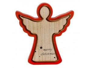 Χριστουγεννιάτικο διακοσμητικό ξύλινο Άγγελος 22x 22εκ.