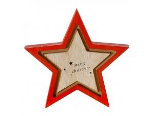 Χριστουγεννιάτικο διακοσμητικό ξύλινο Αστέρι 16 x 16 εκ.