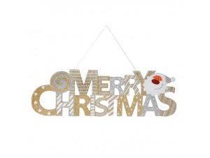 Χριστουγεννιάτικο με Στρας MERRY XMAS 48 x 15 εκ.