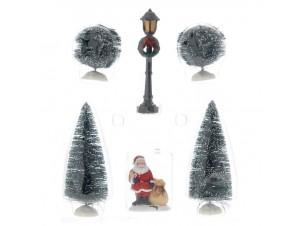 Set 6 τμχ. Χριστουγεννιάτικες φιγούρες