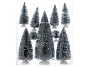 Set 9 τμχ. Χριστουγεννιάτικα Δέντρα