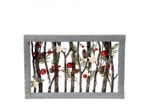 Ξύλινο Χριστουγεννιάτικο Διακοσμητικό σε Πλαίσιο 47 x 30 εκ.