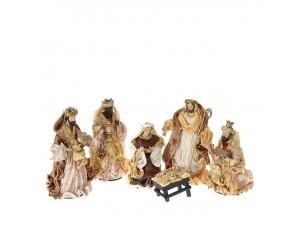 Set 6 τμχ. Χριστουγεννιάτικες φιγούρες Φάντης 25 εκ.