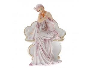 Ροζ Χριστουγεννιάτικο Διακοσμητικό Γυναίκα 15 x 11 x 20 εκ.