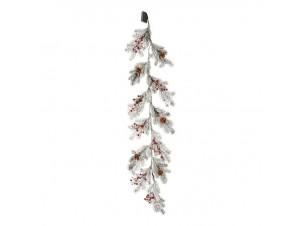 Χιονισμένη Φωτιζόμενη Χριστουγεννιάτικη Γιρλάντα με Berries 150 εκ.