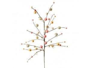 Ροζ-Χρυσό Χριστουγεννιάτικο Κλαδί Διακόσμησης με Berries 82 εκ.