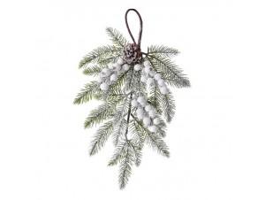 Χριστουγεννιάτικο Κλαδί Διακόσμησης Χιονισμένο 48 εκ