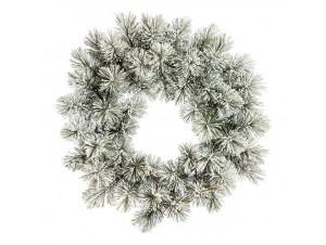 Χριστουγεννιάτικο στεφάνι Χιονισμένο 75 εκ.