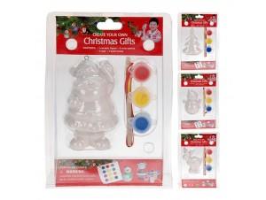 Set Χριστουγεννιάτικη Παιδική Παλέτα Ζωγραφικής με 4 σχέδια.