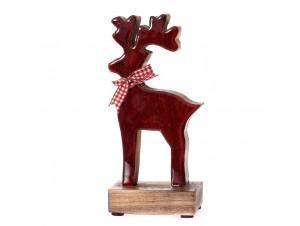 Ξύλινος γυαλιστερός Χριστουγεννιάτικος Τάρανδος 10 x 23 εκ.