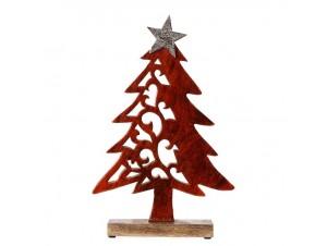 Χριστουγεννιάτικο Σκαλιστό Ξύλινο Διακοσμητικό Δέντρο 22 x 34 εκ.