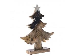 Ξύλινο Διακοσμητικό Χριστουγεννιάτικο Δέντρο 43 x 52 εκ.