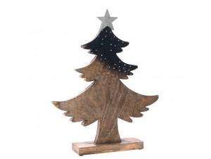 Ξύλινο Χριστουγεννιάτικο Διακοσμητικό Δέντρο 30 x 38 εκ.