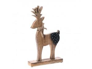 Φυσικό ξύλινο Χριστουγεννιάτικο Διακοσμητικό Τάρανδος 26 x 43 εκ.