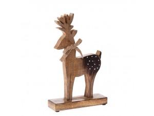 Φυσικό ξύλινο Διακοσμητικό Χριστουγέννων Τάρανδος 20 x 33 εκ.