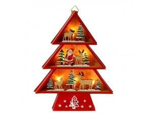 Φωτιζόμενο Χριστουγεννιάτικο Διακοσμητικό Δέντρο 20 x 23 εκ.