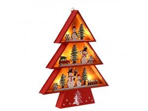Χριστουγεννιάτικο Διακοσμητικό Δέντρο Φωτιζόμενο 28 x 34 εκ.