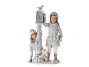 Χριστουγεννιάτικο Διακοσμητικό Φανάρι με Παιδιά 10 x 5 x 16 εκ.