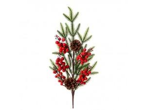 Χριστουγεννιάτικο Διακοσμητικό Κλαδί με Γκυ 60 εκ.