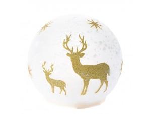 Γυάλινη Χριστουγεννιάτικη Φωτιζόμενη Μπάλα 15 εκ.