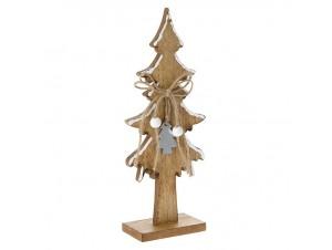 Ξύλινο Χριστουγεννιάτικο Διακοσμητικό Δεντράκι 10 x 5 x 25 εκ.