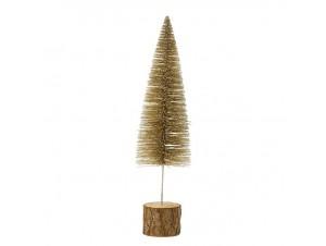 Μεταλλικό Χρυσό Χριστουγεννιάτικο Διακοσμητικό Δέντράκι 7,5 x 28 εκ.