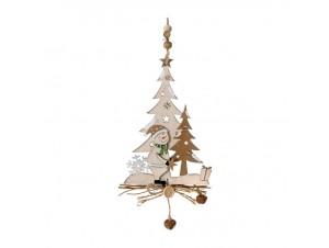 Ξύλινο Χριστουγεννιάτικο Διακοσμητικό Δεντράκι 25 εκ.
