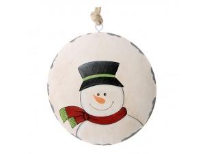 Μεταλλικό Πλακέ Χριστουγεννιάτικο Στολίδι 14 εκ.