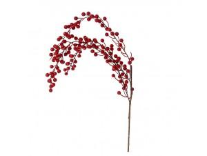 Κόκκινο Χριστουγεννιάτικο Κλαδί με Berries 80 εκ.