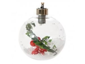 Διάφανη Φωτιζόμενη Χριστουγεννιάτικη Μπάλα 8 εκ.
