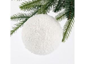 Χιονισμένη Χριστουγεννιάτικη Μπάλα 12 εκ.