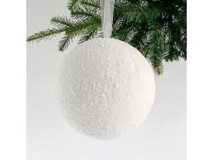 Χιονισμένη Χριστουγεννιάτικη Μπάλα 20 εκ.