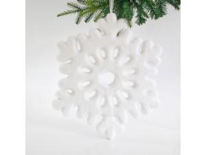 Χιονισμένο Χριστουγεννιάτικο Στολίδι Νιφάδα 47 εκ.