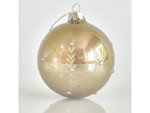 Χρυσή Γυάλινη Χριστουγεννιάτικη Μπάλα 8εκ.