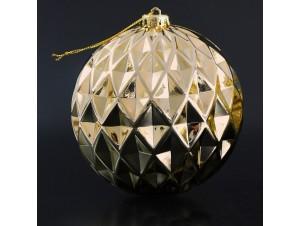 Γυαλιστερή Ανάγλυφη Χριστουγεννιάτικη Μπάλα 15 εκ.