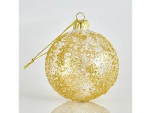 Ανάγλυφη Χριστουγεννιάτικη Μπάλα 8 εκ.