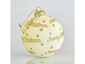 Μπάλα Χριστουγέννων με Χρυσές Ευχές 8 εκ.