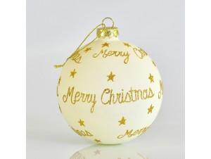 Μπάλα Χριστουγέννων με Χρυσές Ευχές 10 εκ.